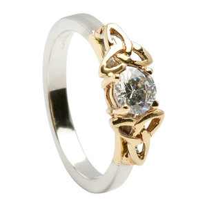 trinity Irish engagement rings two tone