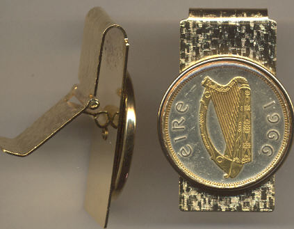 Irish Coin Money Clip