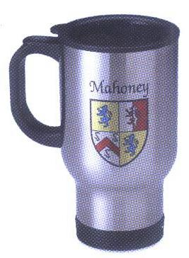 Irish Stainless steel coat of arms coffee mug