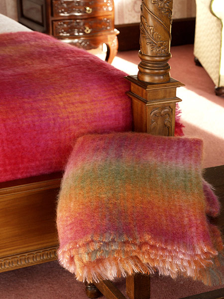 medium mohair throw