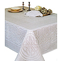 Irish Linen Damask Tablecloth Celtic Scroll