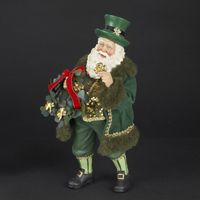 Christmas Irish Santa with Wreath