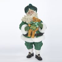 Christmas Irish Santa with Bear