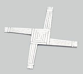 Mullingar Pewter St. Brigid's Cross