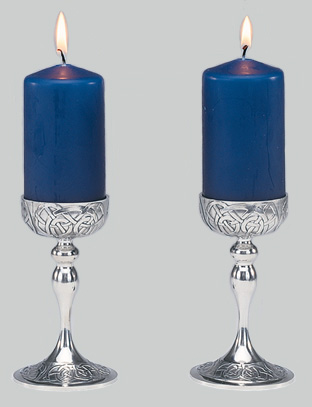 Mullingar Pewter Celtic Candlesticks