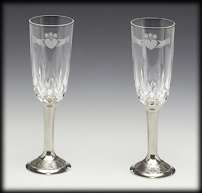 Mullingar Pewter Wedding Flutes