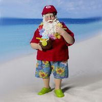 Beach Bum Christmas Santa