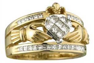 ladies claddagh wedding bands large