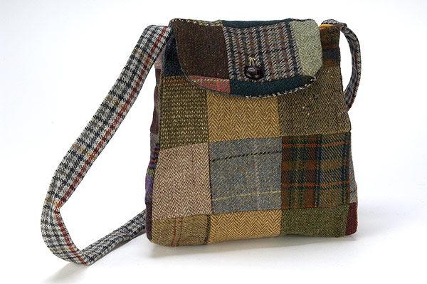 Hanna Hat co Tweed Backpack Purse